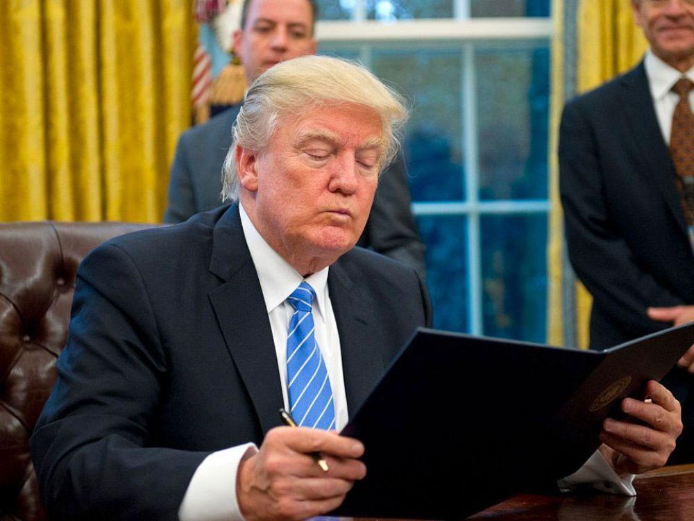 U.S. President Donald Trump prefers print to online media.