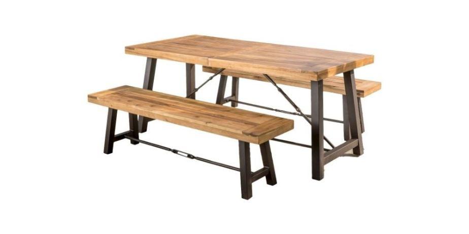 Catriona 3pc Acacia Wood Picnic Table