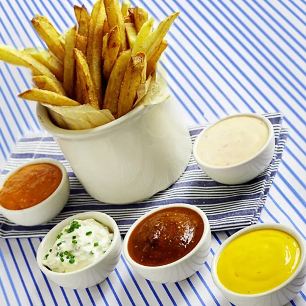 homemade french fries with