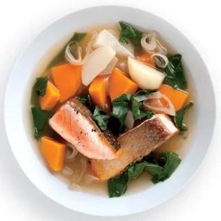 Image may contain Bowl Food Dish Meal Soup Bowl Soup Hot Dog and Burger