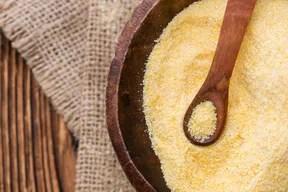 Cornmeal in a Bowl