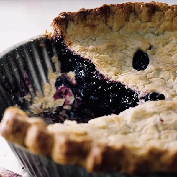 DeepDish Wild Blueberry Pie recipe Epicuriouscom