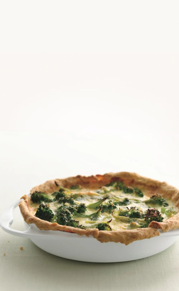 Broccoli Garlic Quiche recipe Epicuriouscom