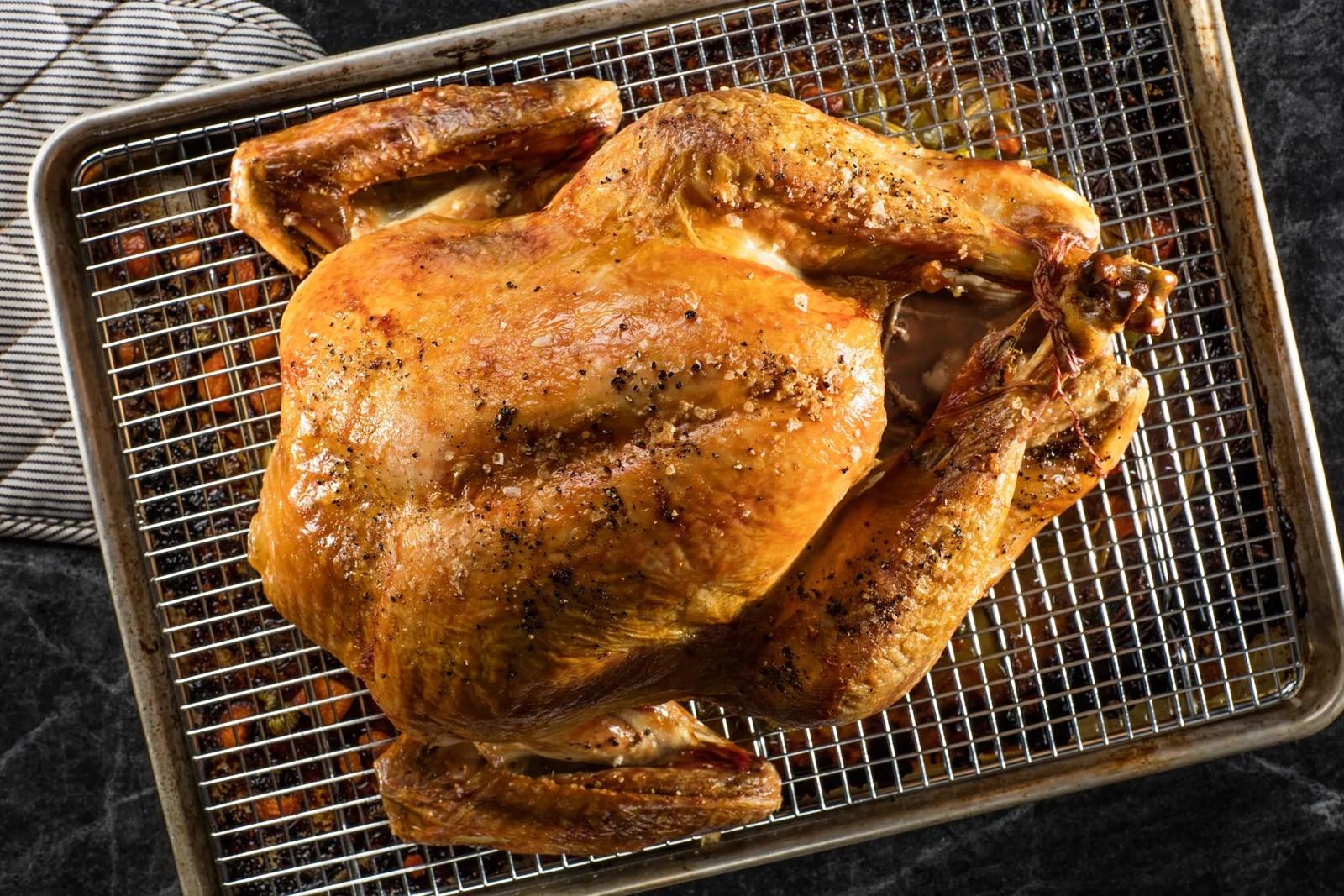 roast a turkey without a roasting pan