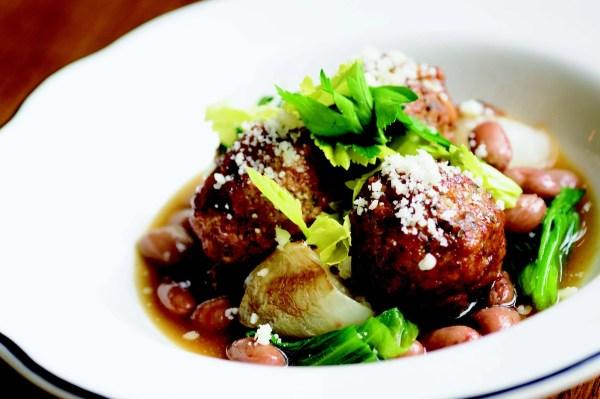Lamb Meatballs with Escarole Cipollini Onions and