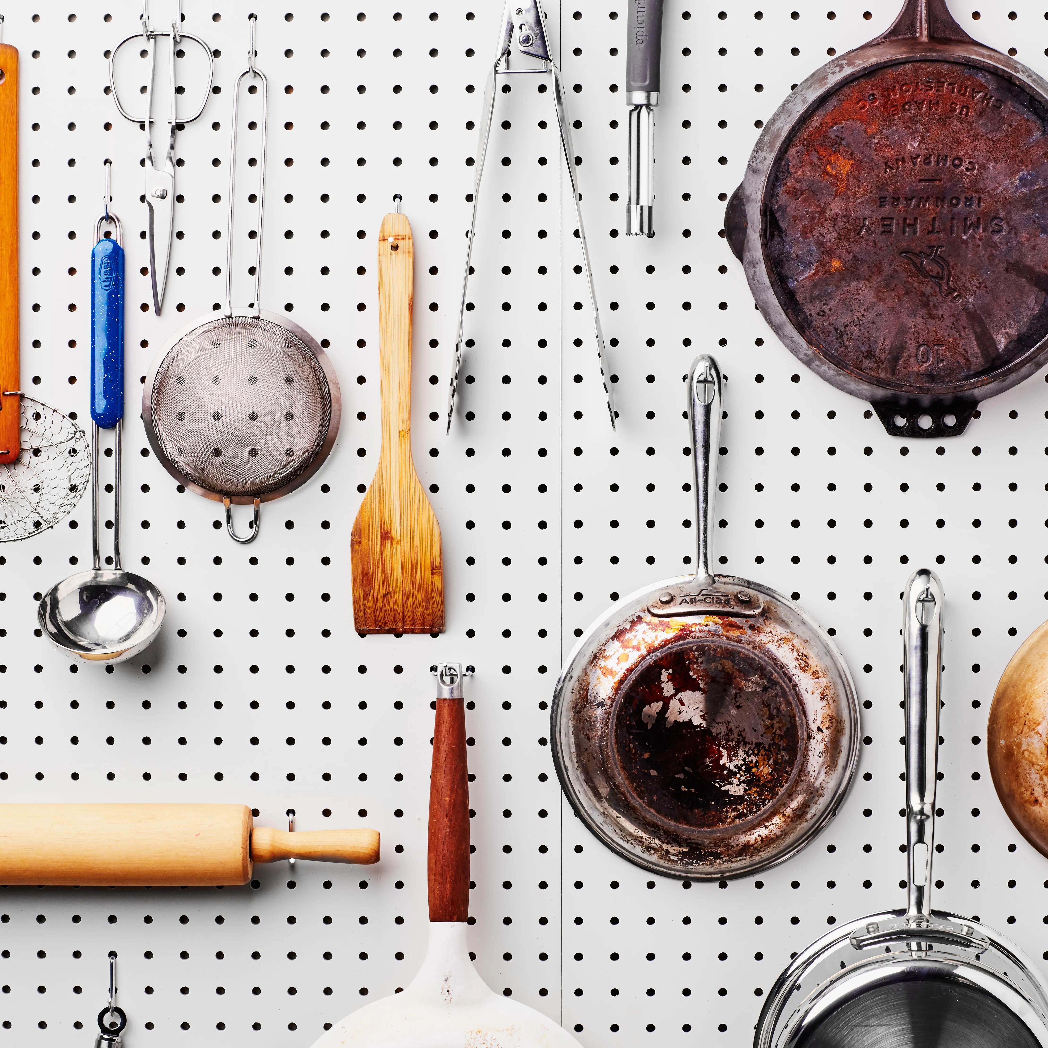 pegboard kitchen ikea pantry cabinets how to install in your and more organizing tips epicurious