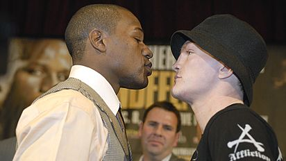 Hatton is a smaller man than Mayweather