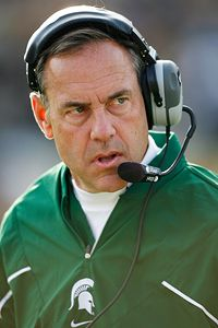 Need to clear out the massive amount of guests at your party?  Hire Mark Dantonio