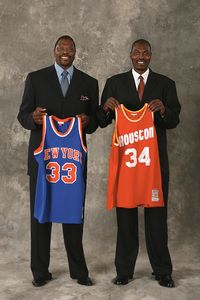 Patrick Ewing and Hakeem Olajuwon