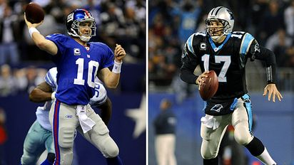 Eli Manning and Jake Delhomme (credit ESPN for the picture)