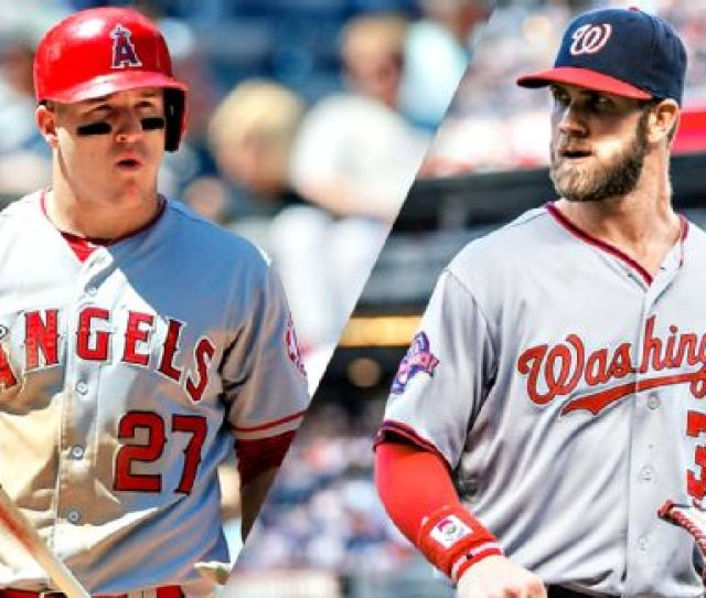 Trout Ron Shandler Explores How Bryce Harper Is Eclipsing Mike Trout Mike Trout And Bryce Harper