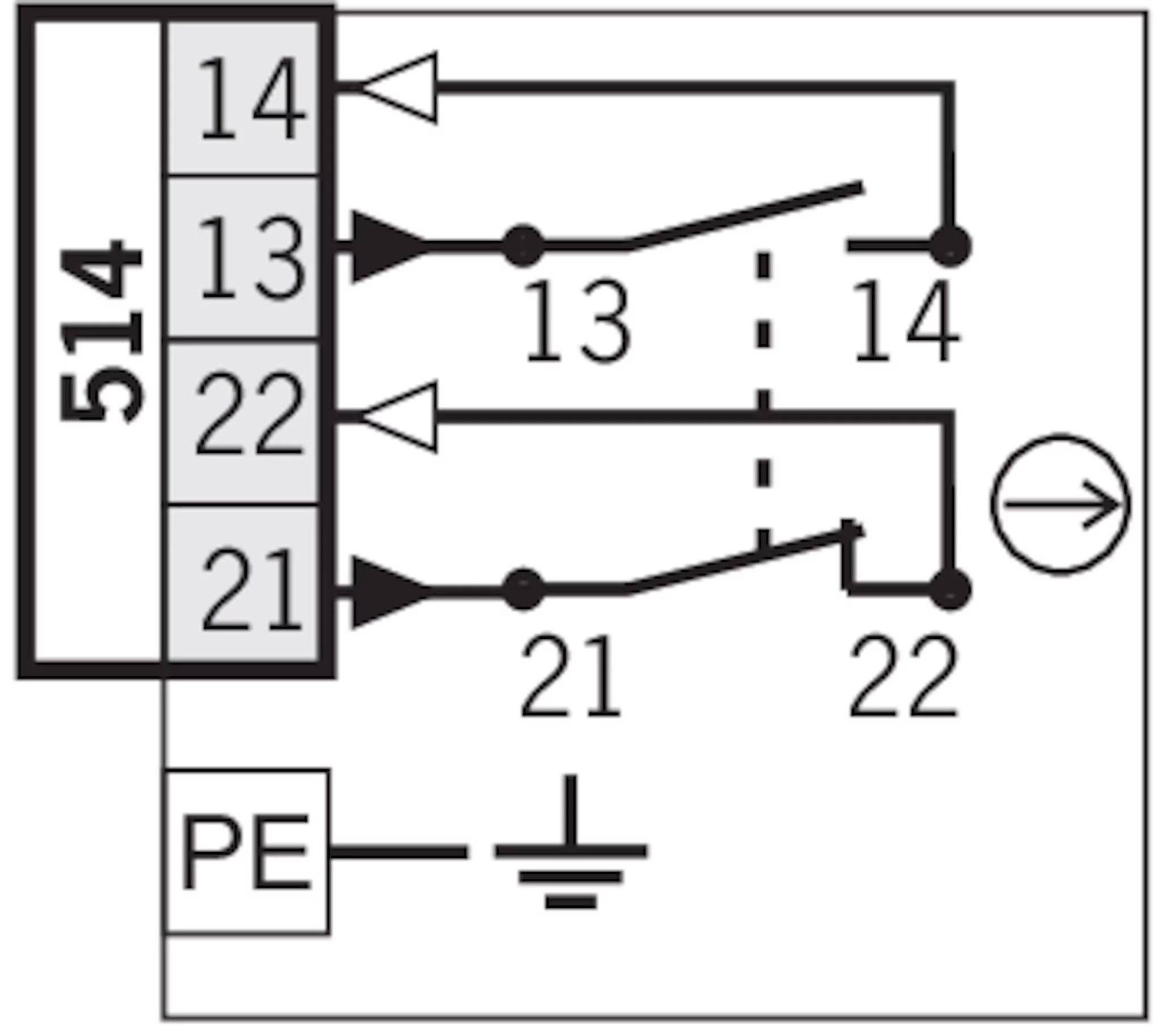 N1AR514-M Single hole fixing limit switch N1AR/AB, roller