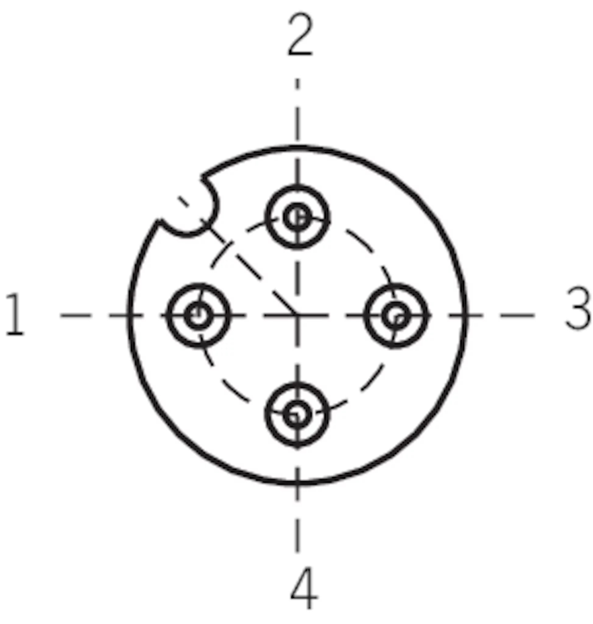 C M12f04 04x034pu05 0 Ga Plug Connector M12