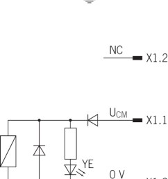 circuit diagram connection solenoid operating voltage plug s1 a free wheeling diode is already integrated into each cem  [ 1726 x 2048 Pixel ]