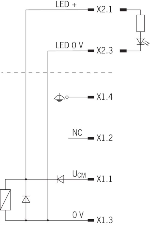small resolution of circuit diagram connection solenoid operating voltage plug s1 a free wheeling diode is already integrated into each cem