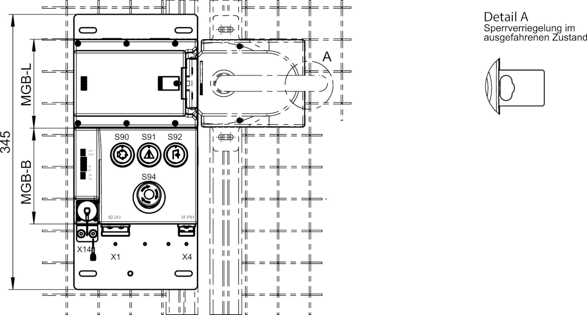 MGB-L2B-PNC-L-117026 Evaluation module and bus module MGB