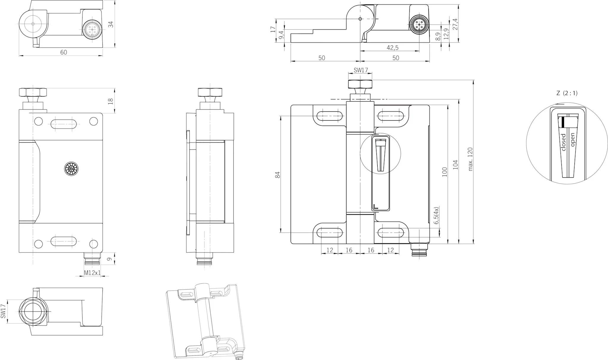 ESH-PRO-11A-1205 Safety hinge ESH | EUCHNER