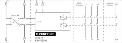 ESM-ES301 Contact expansion ESM-ES.., 3 safety contacts, 1