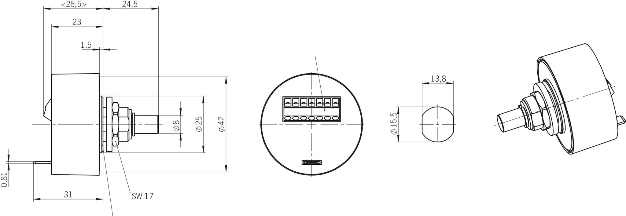 HKB100S7A05K Handwheel HKB with momentary pushbutton