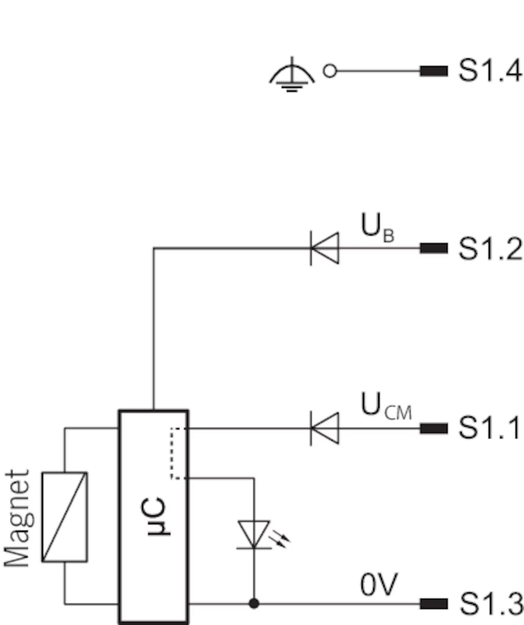 hight resolution of circuit diagram connection solenoid operating voltage plug s1 a free wheeling diode is already integrated into each cem