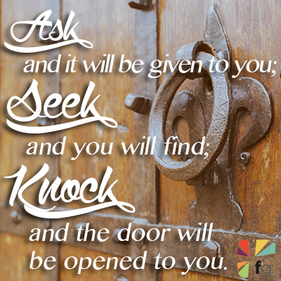 Image result for ask seek knock