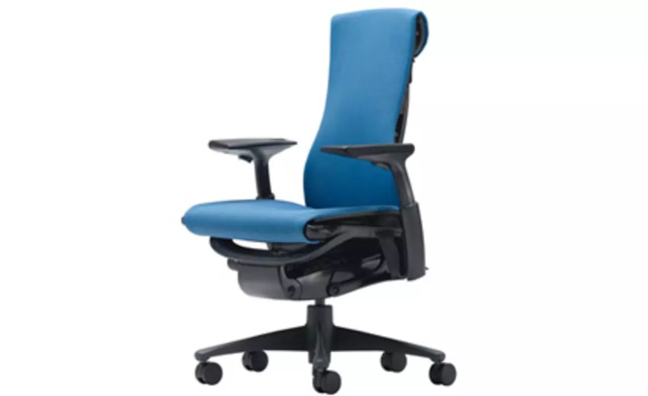 herman miller desk chairs race seat office chair test-driving the latest high-tech [video] | fast company