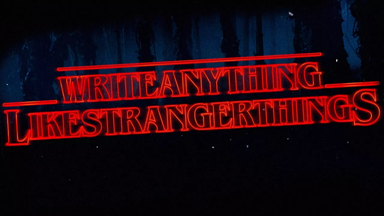 You Can Now Write Anything In Stranger Things Font
