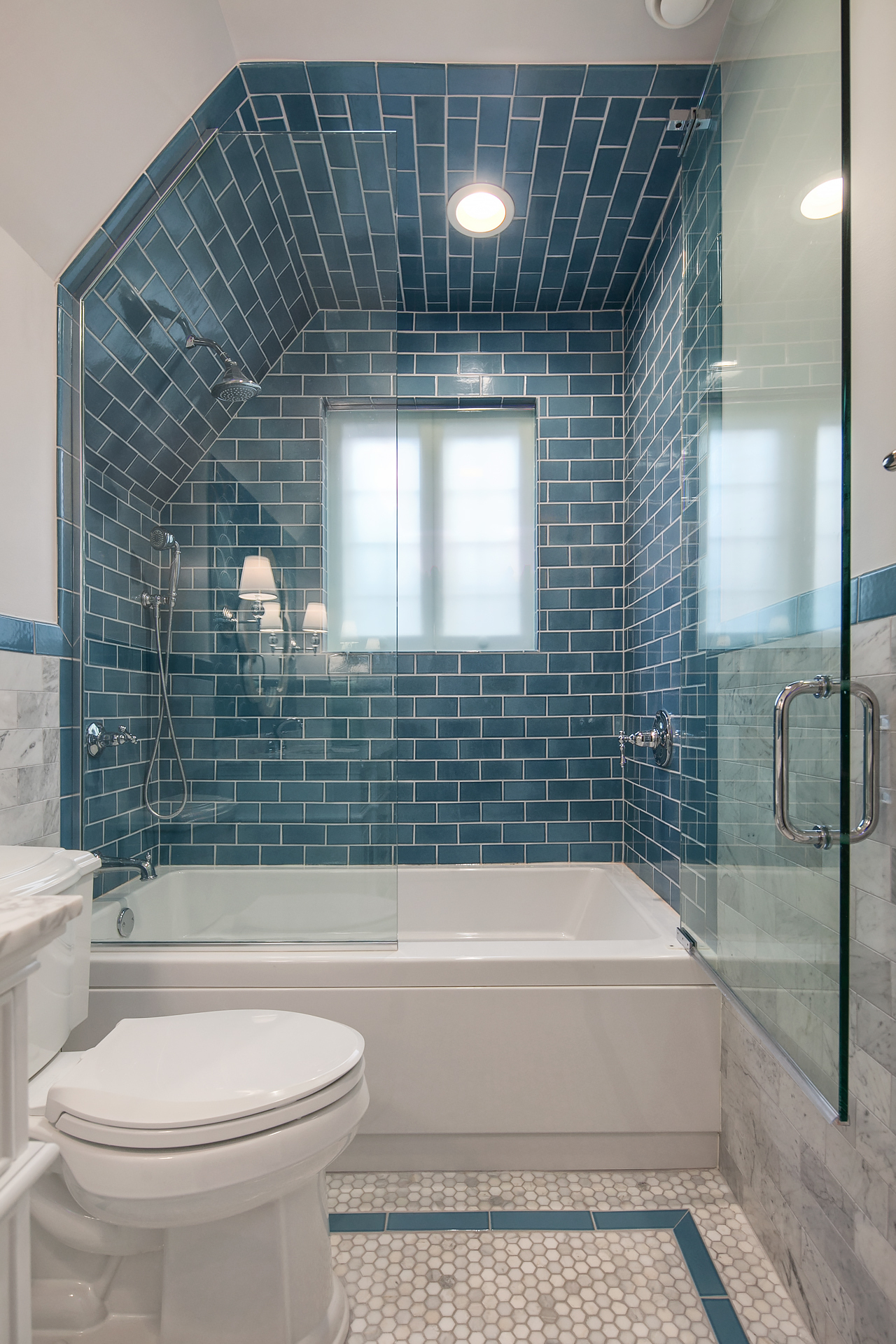 bathroom wall tiles how high should