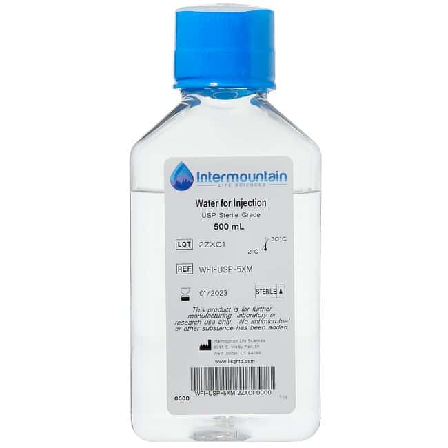 Water for Injection. USP. Sterile Grade. Intermountain | Fisher Scientific