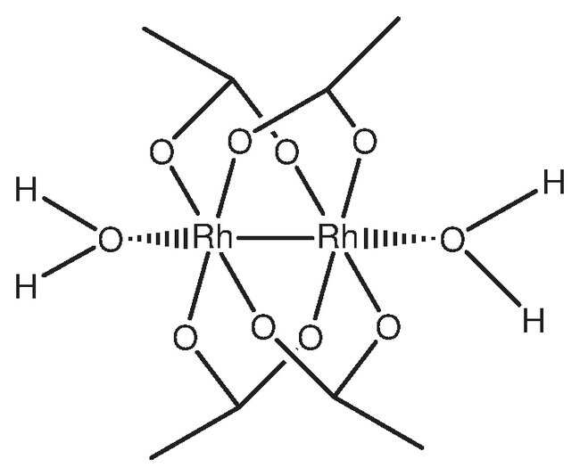 Rhodium(II) acetate dimer, dihydrate, ca 43% Rh, ACROS Organics™: Other Inorganic Compounds