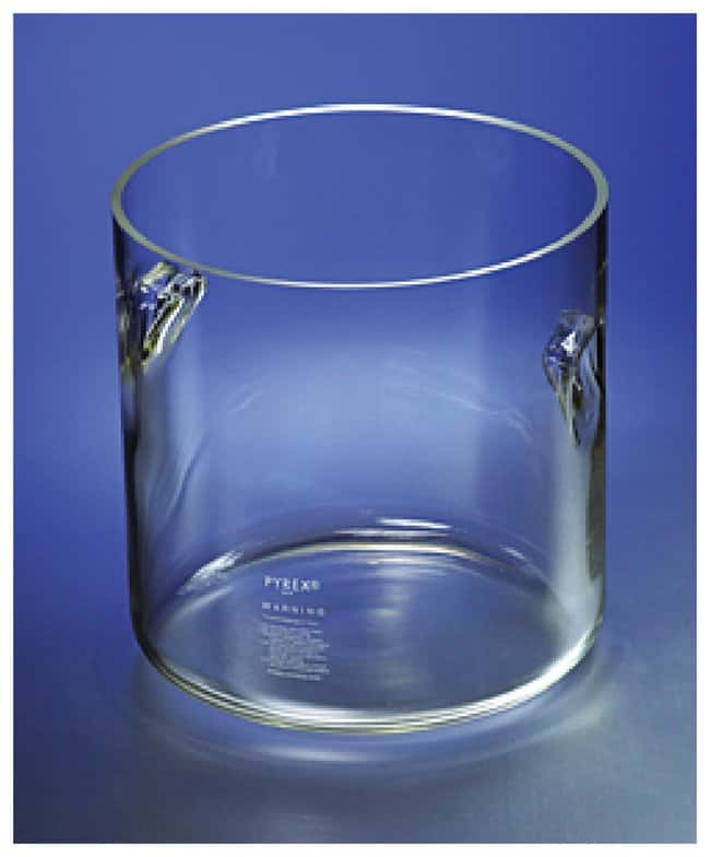 pyrex cylindrical jars with