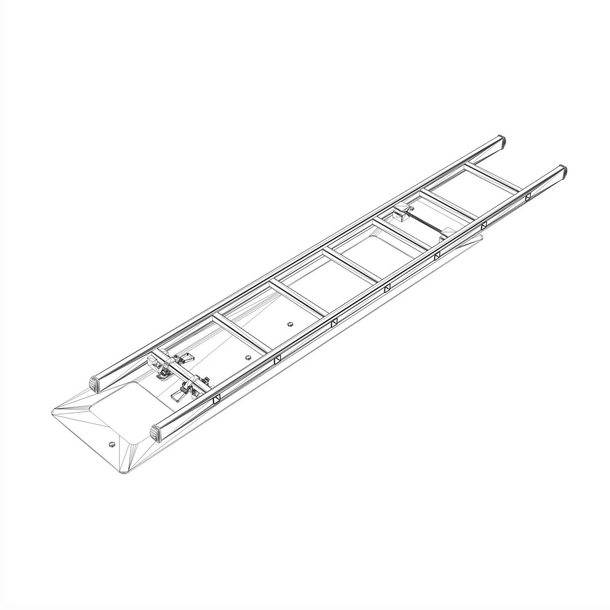 Alu ladder with vehicle mounting 3D Model