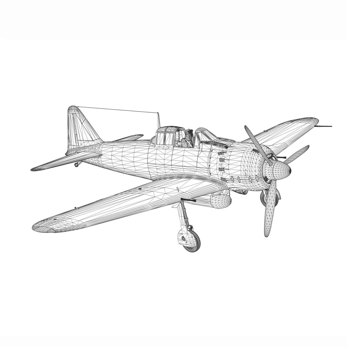 Mitsubishi A6M5 Zero 3D Model