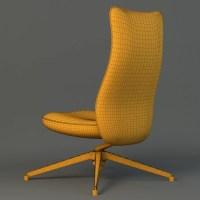 Pilot Chair knoll 3D Model  Buy Pilot Chair knoll 3D ...