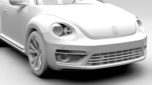 small resolution of vw beetle cabriolet 2017 3d model 3ds max fbx c4d lwo ma mb hrc xsi obj