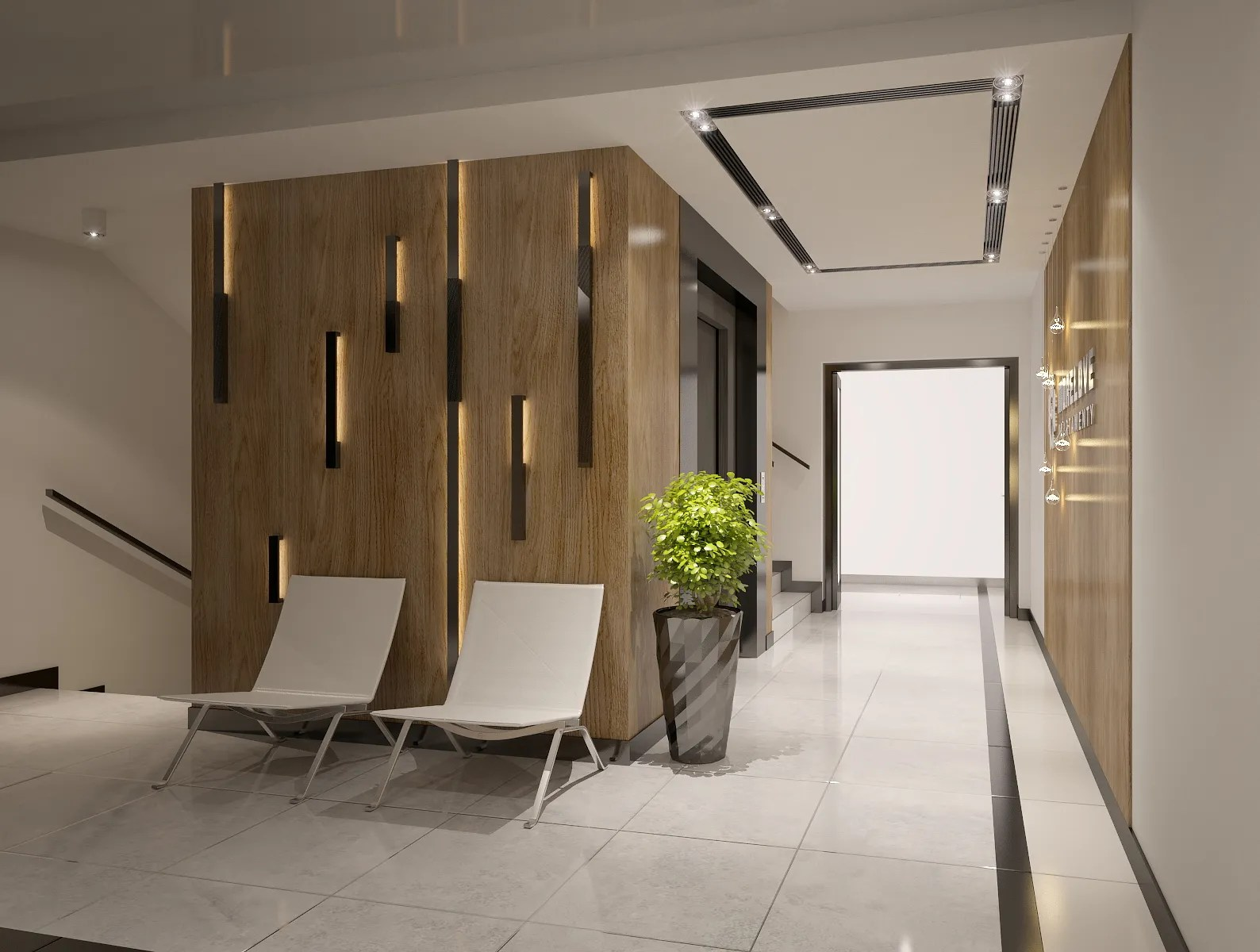 Interior Design Of Apartments Building Entrance Ha 3D Model – Buy