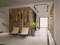 Interior design of Apartments building Entrance Ha 3D ...