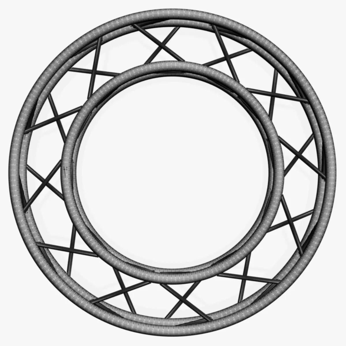 Circle Square Truss Full Diameter 150cm 3d Model