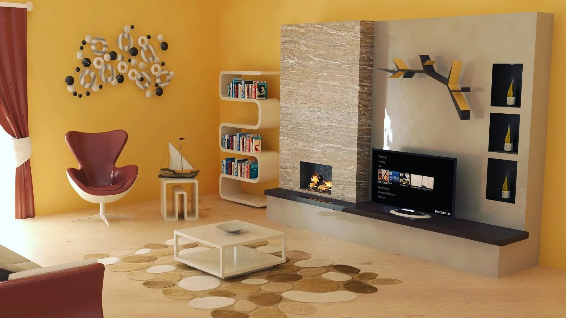 Interior design living room 3D Model  Buy Interior design