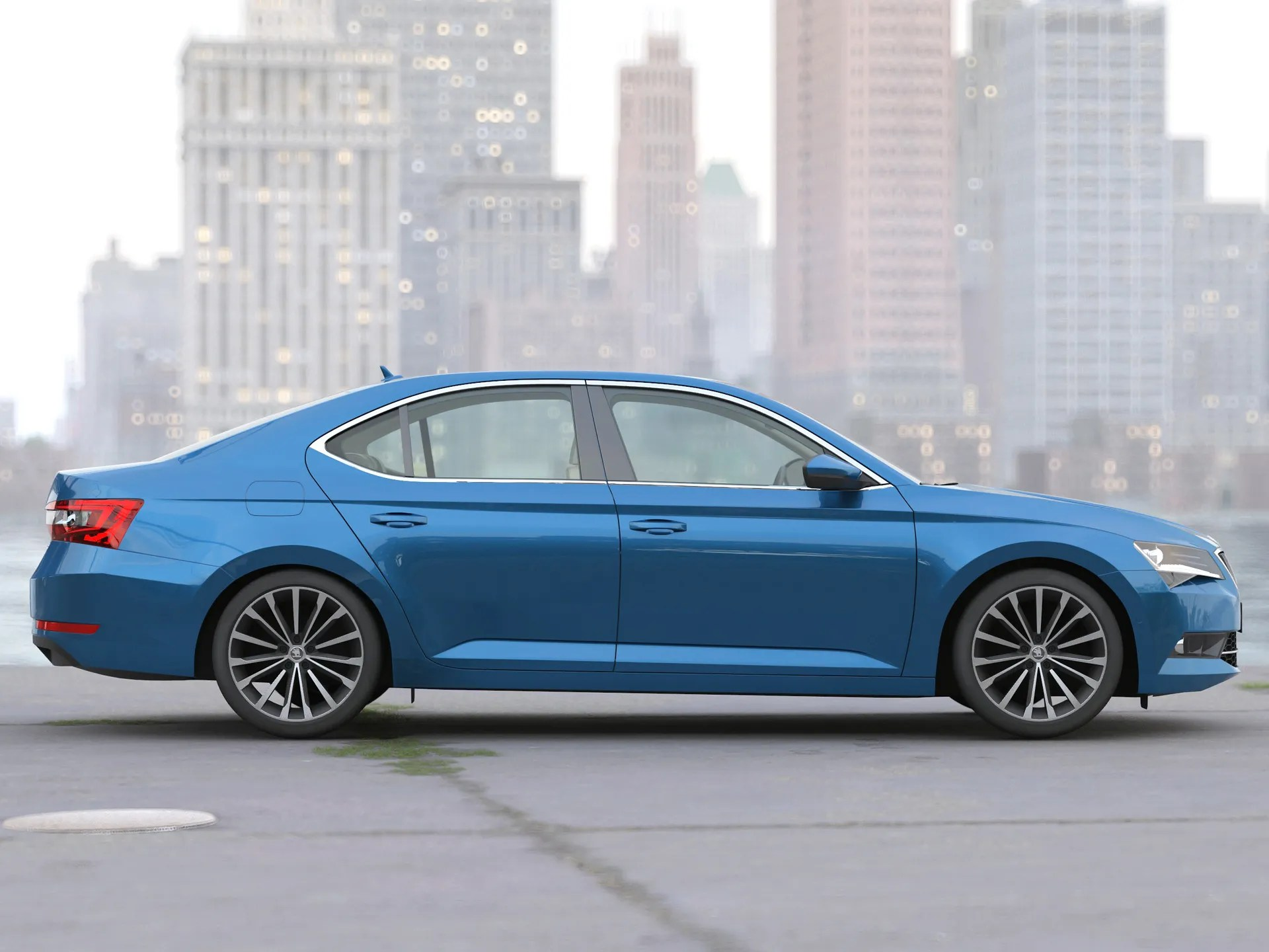 hight resolution of skoda superb 2018 3d model 3ds max fbx c4d obj 269194