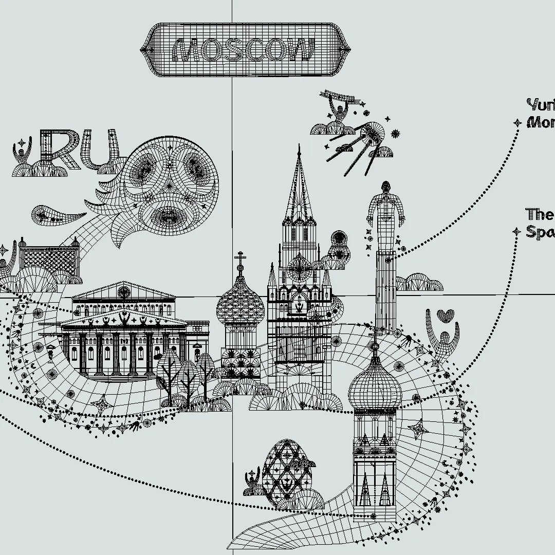 Official World Cup Russia Host City Moscow 3d Model