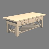 Coffee Table v2 3D Model | FlatPyramid