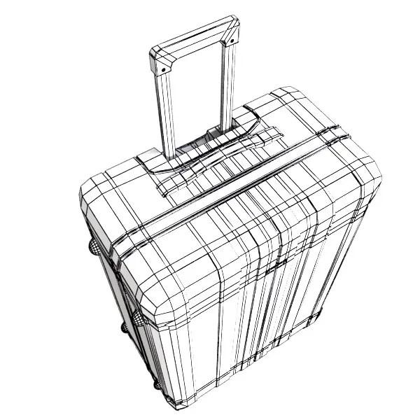 3D Model Rolling Suitcase 01 High Detail 3D Model