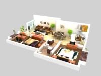 Living Room 056 3D Model   FlatPyramid