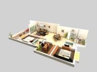 Living Room 057 3D Model   FlatPyramid