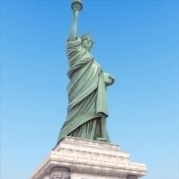 Liberty Island Scene Statue Of Liberty 3D Model FlatPyramid