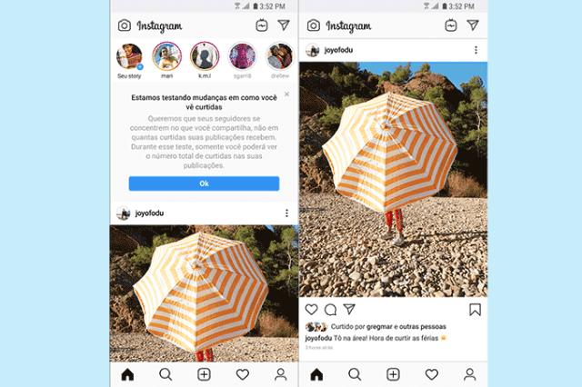 Instagram inicia teste para ocultar curtidas dos posts no Brasil 2
