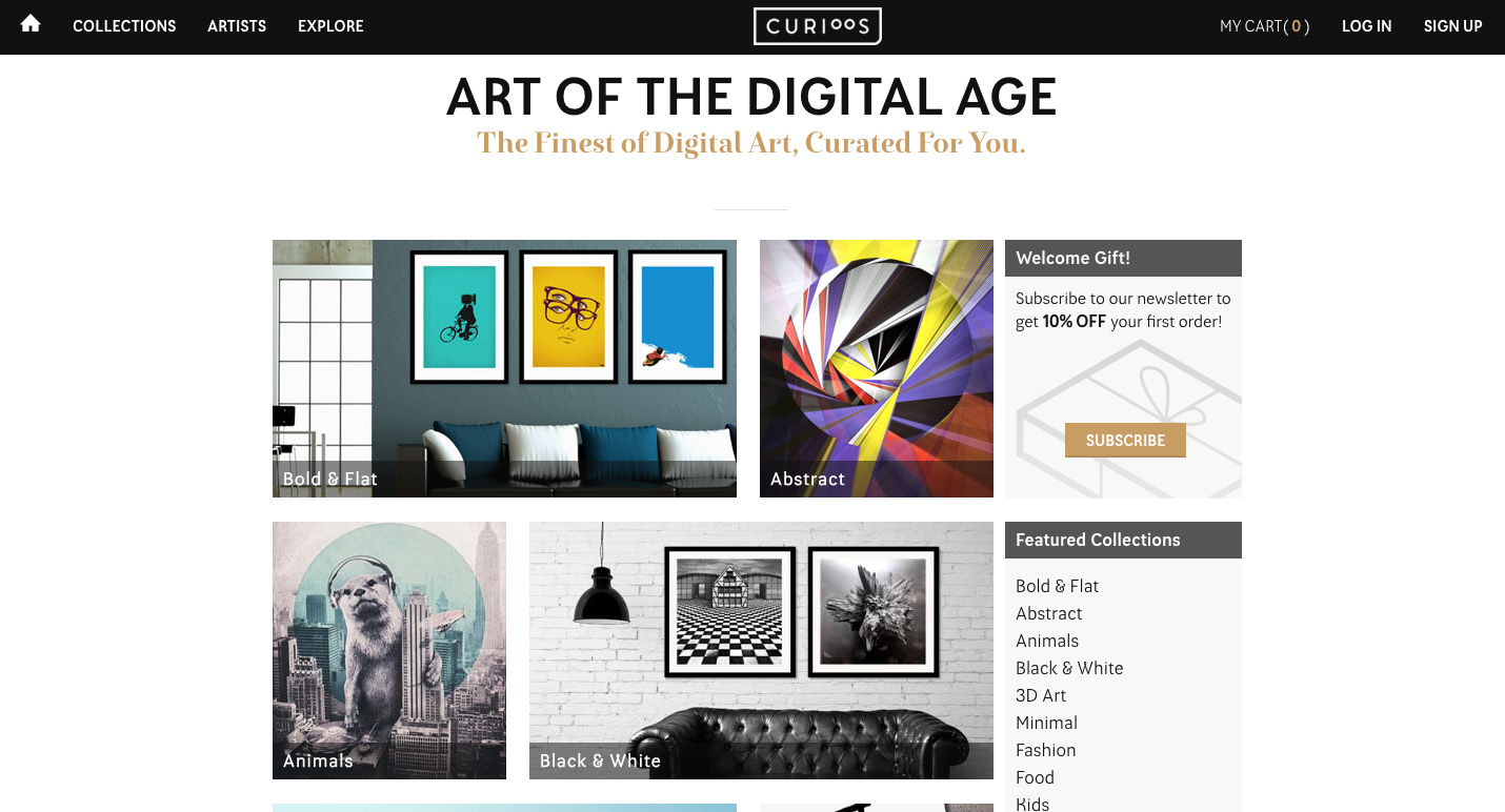 Curioos Curioos.com - Fonts In Use