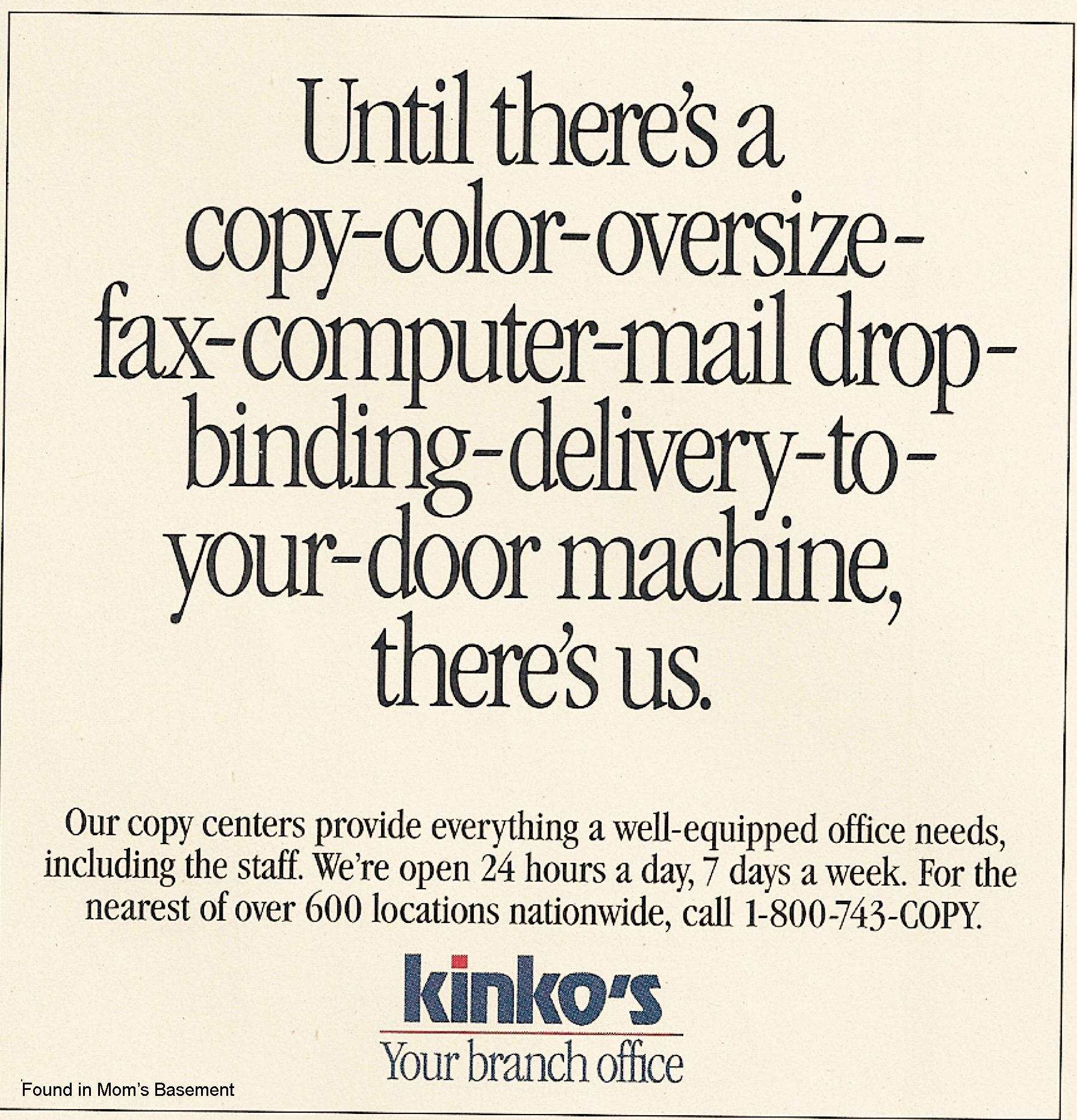 kinko s ads 1992