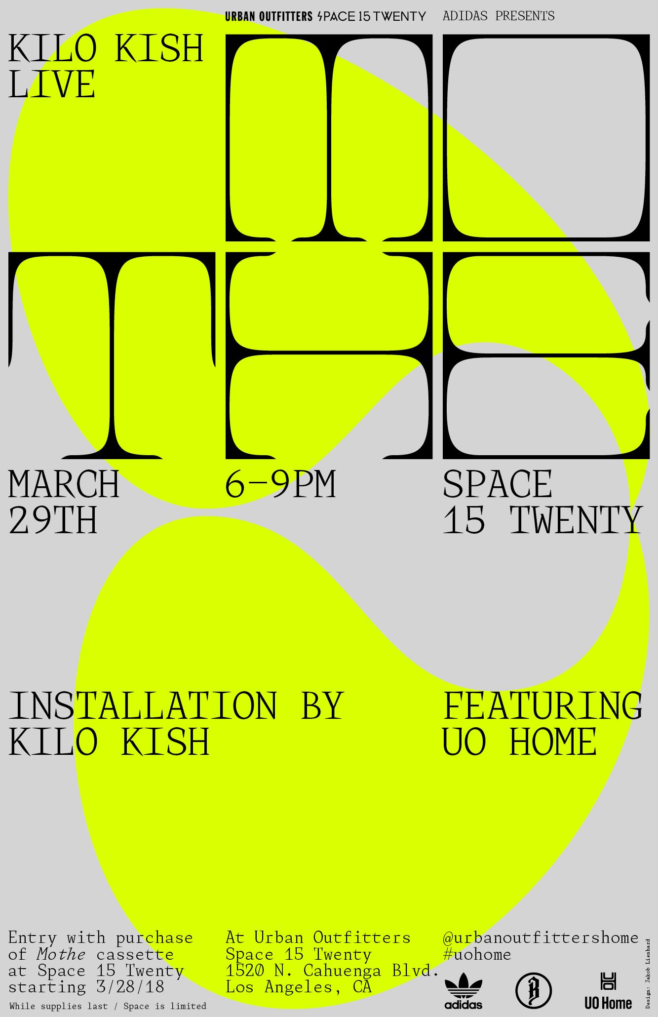 hight resolution of kilo kish mothe installation and poster